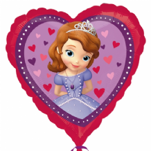 "Sofia The First Heart Foil Balloon (18"") 1pc"